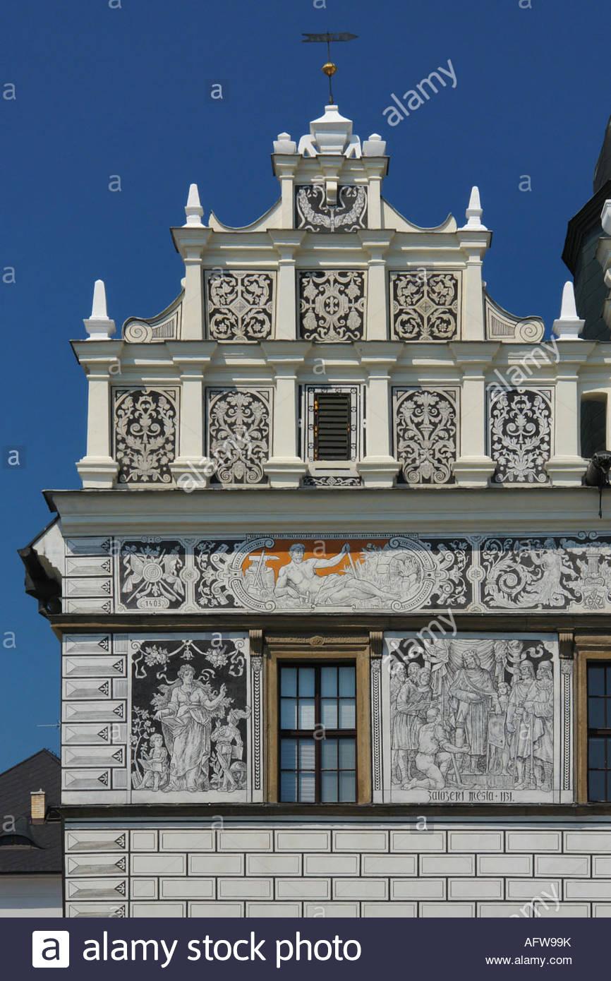 Stribro Tschechien renaissance rathaus stribro tschechische republik stockfoto bild