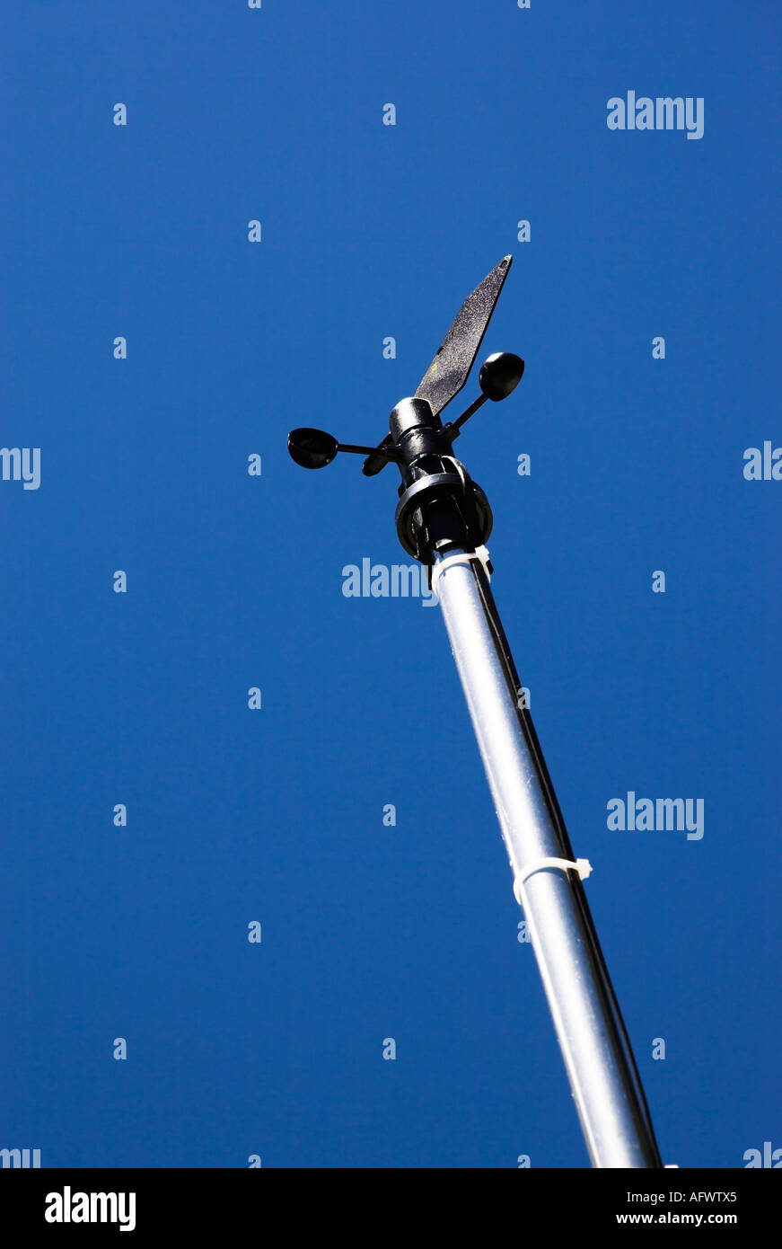 Anemometer, ein Gerät zur Messung der Windgeschwindigkeit Stockbild