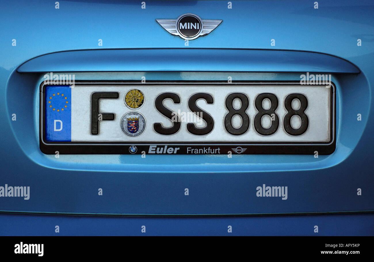 KFZ-KENNZEICHEN DES DEUTSCHEN AUTOS Stockfoto, Bild: 14041785 - Alamy