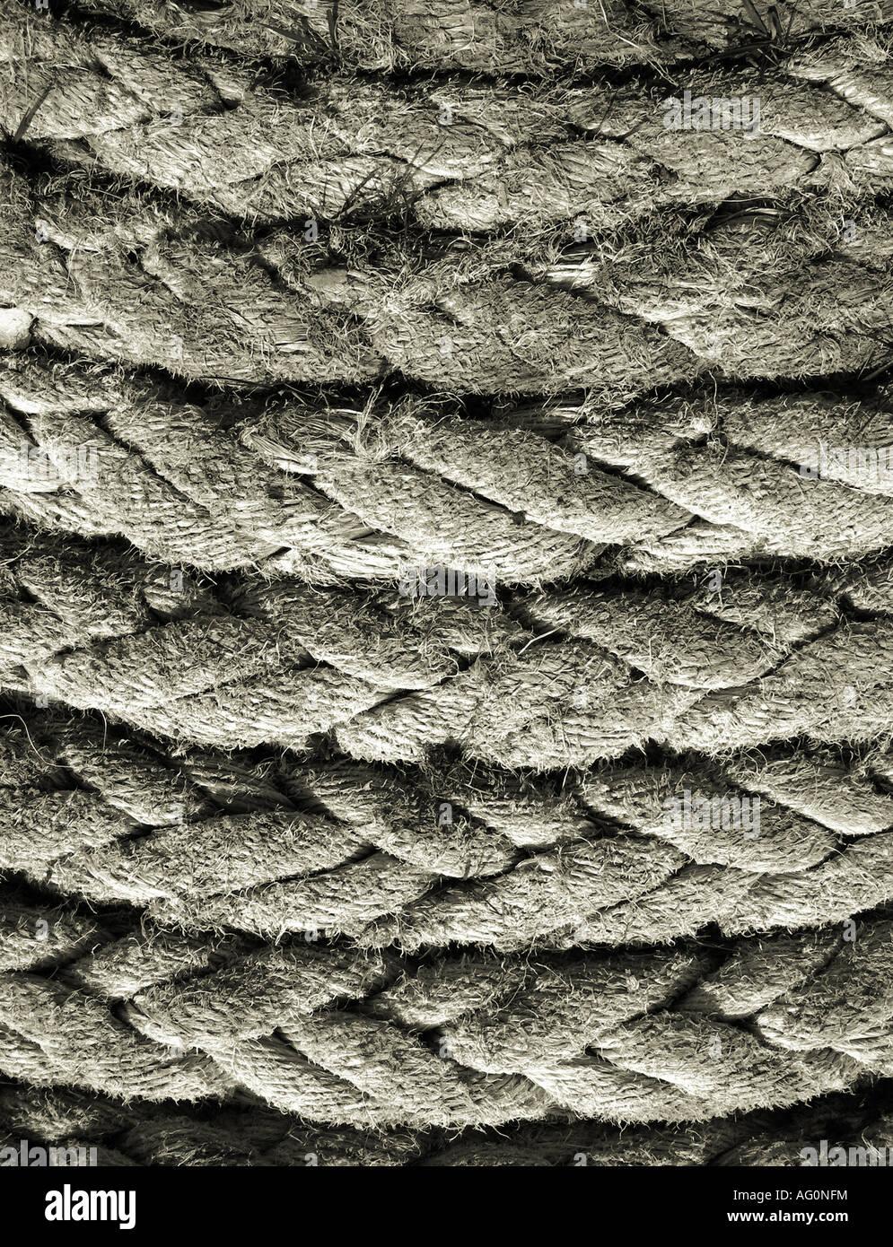 Beschnittzugabe schossen nahe der dicken Mantel aus Naturfasern gemacht Stockbild