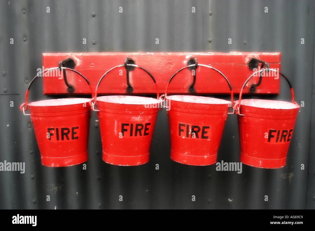 Feuer-Eimer Stockbild