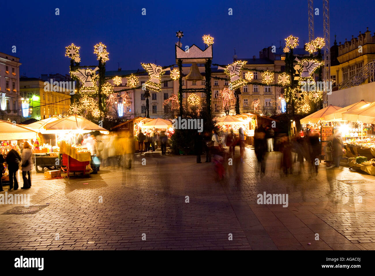 weihnachten weihnachtsmarkt in krakau krakau polen stockfoto bild 14147393 alamy. Black Bedroom Furniture Sets. Home Design Ideas