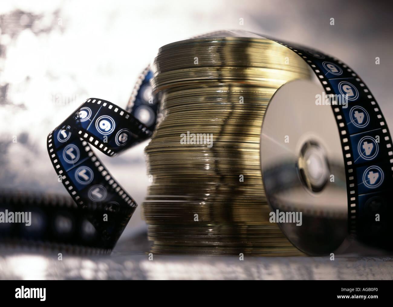 CD und Film Stockbild