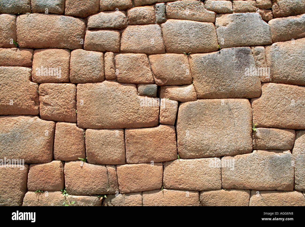 alte Mauer der Inka, Cuzco, Peru Stockbild