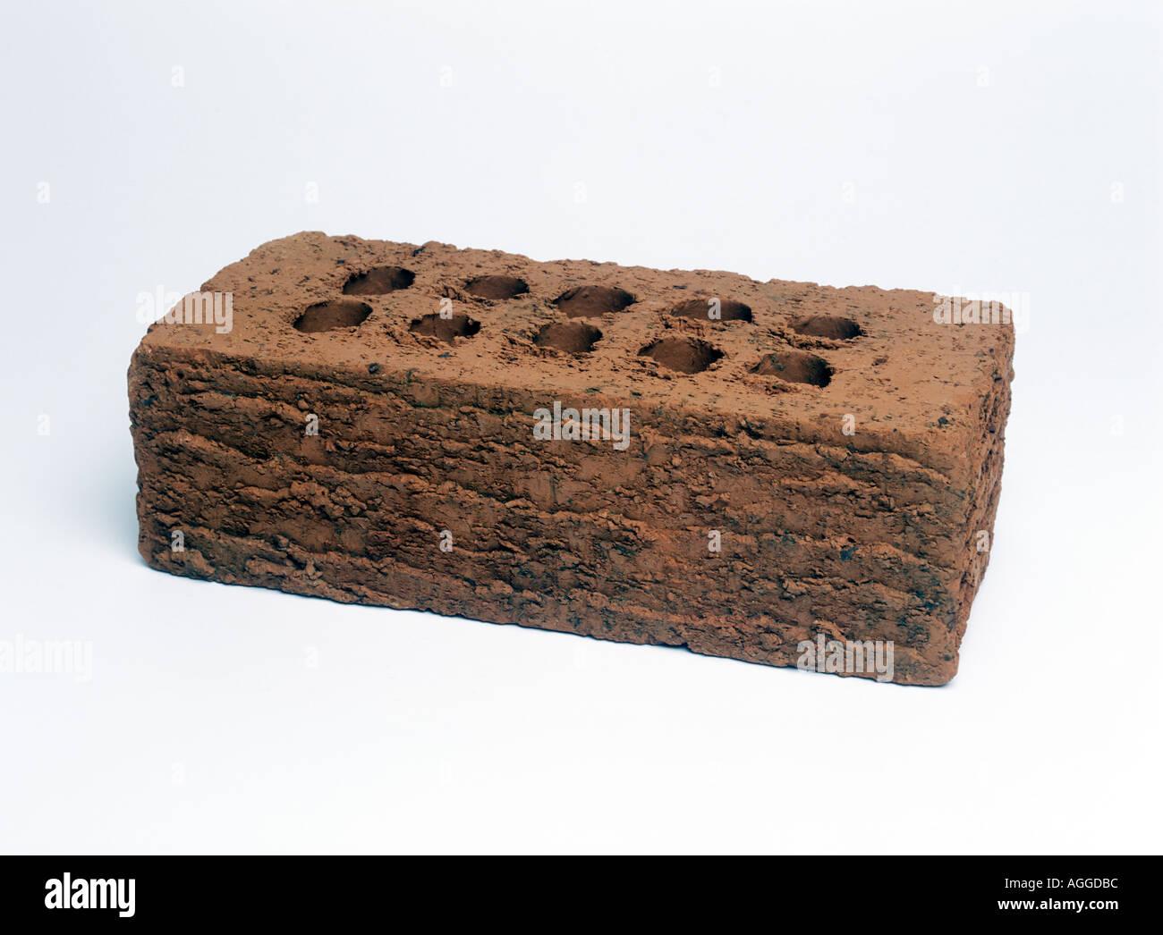 Eine gerichtete Ziegel für Wohnungsbau Stockbild