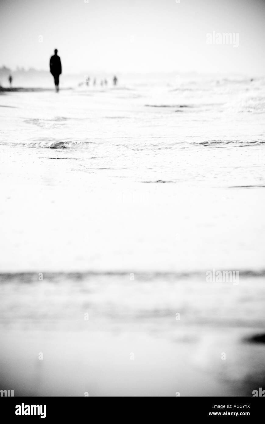 Meer Menschen Mirage Stockbild