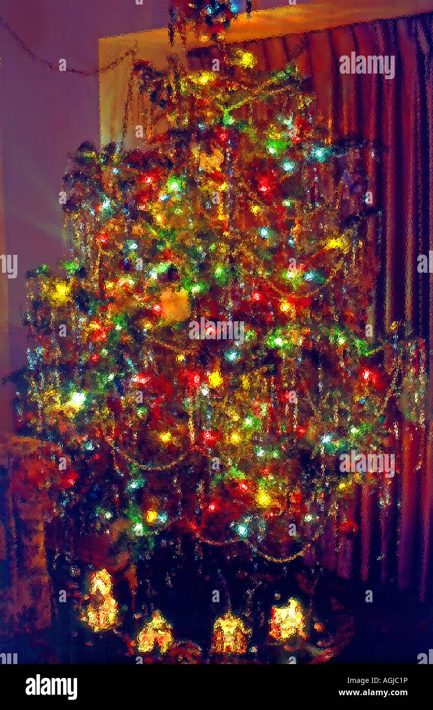 Abstract triangle christmas tree pattern stockfotos for Amerikanischer weihnachtsbaum