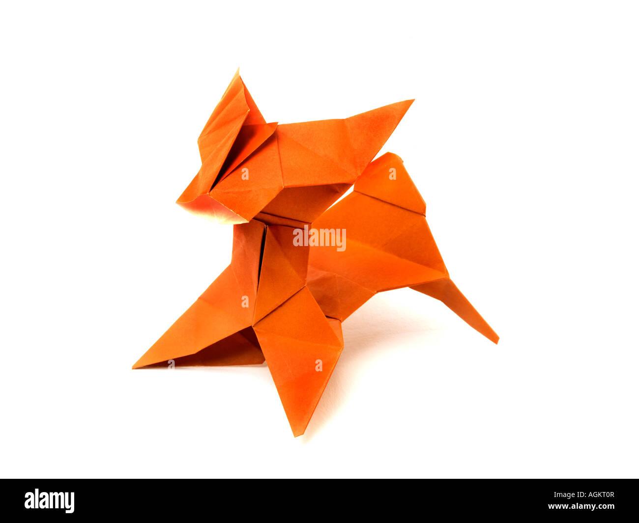 Origami-Hund Stockbild