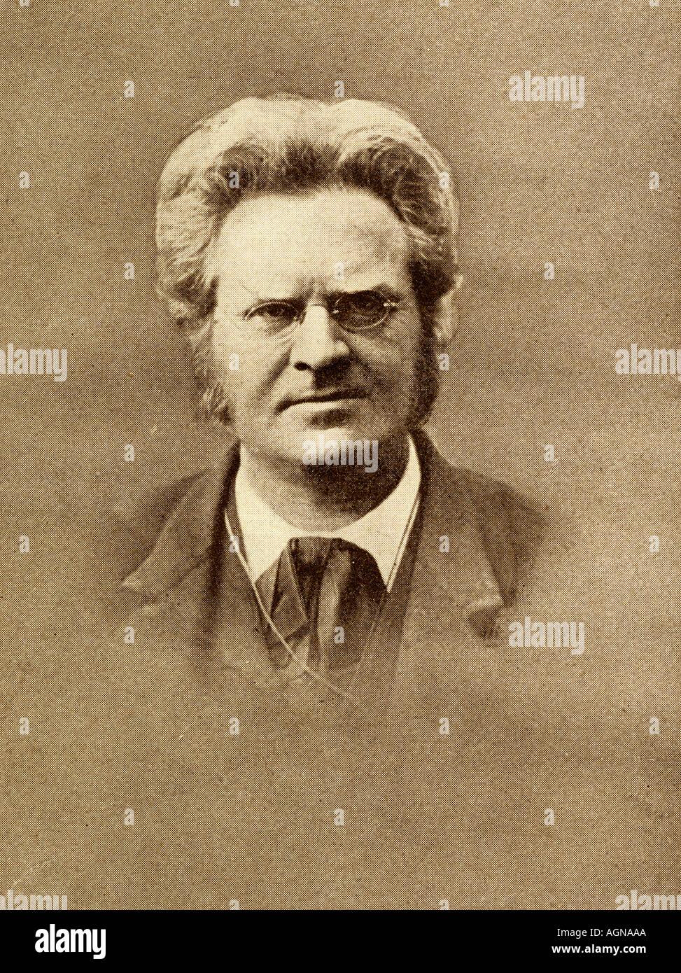 Martinius Bjørnstjerne Bjørnson, 1832 - 1910. Norwegischer Schriftsteller und politischer Führer, Nobelpreisträger für Literatur, 1903. Stockbild