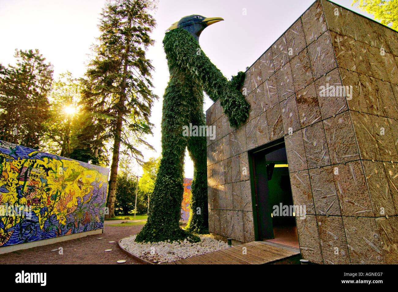 Kunst-Installation - Konzept Andre Heller - Künstler Stefan Szczesny (Expo 2000 Hannover), Alte Abtei Park, Stockbild
