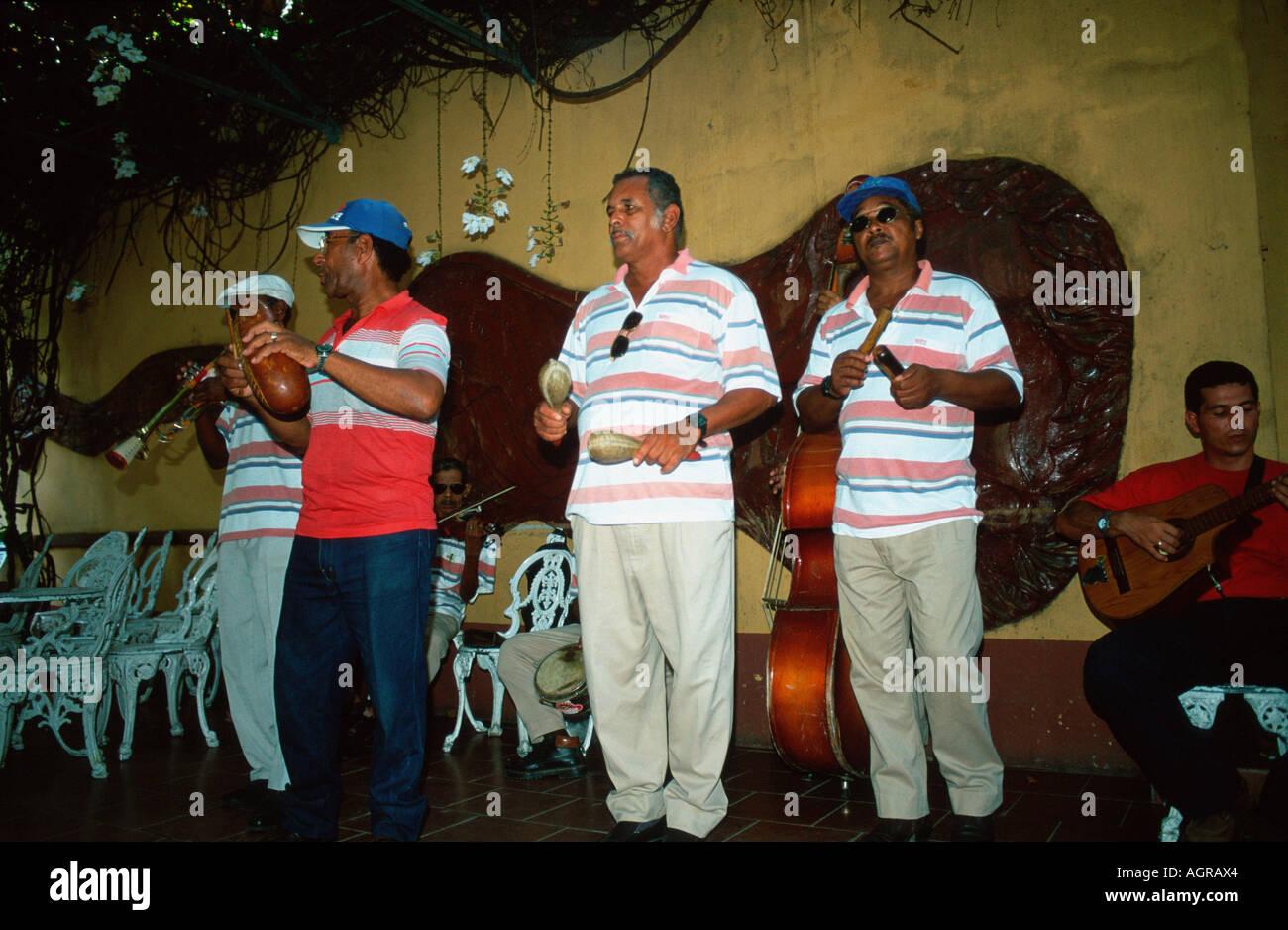 Musiker / Trinidad / Musiker Stockbild