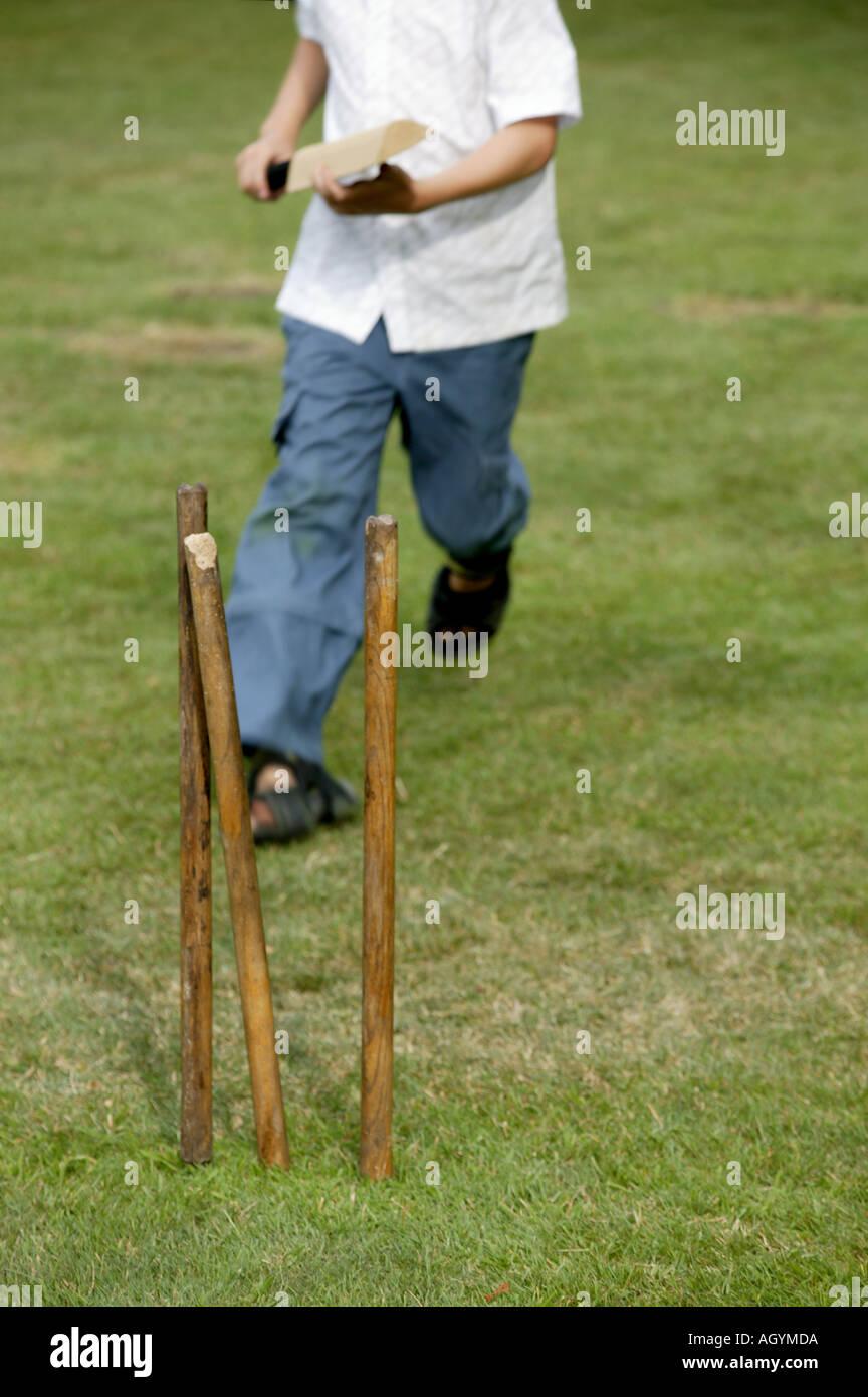 Cricket Spiele Im Garten Stockfoto Bild 4671705 Alamy