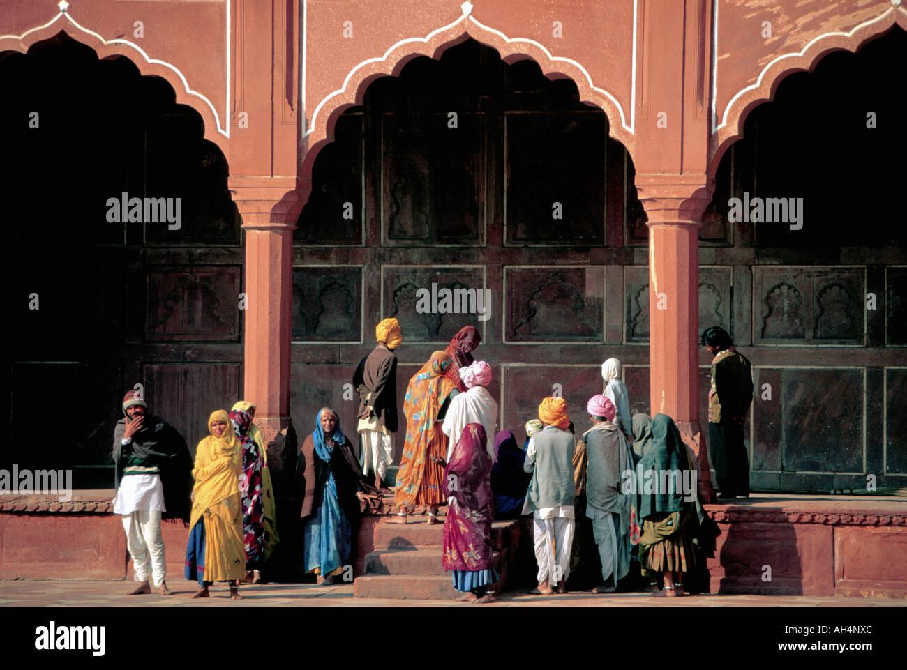 Roten Fort, Agra, Indien Stockbild