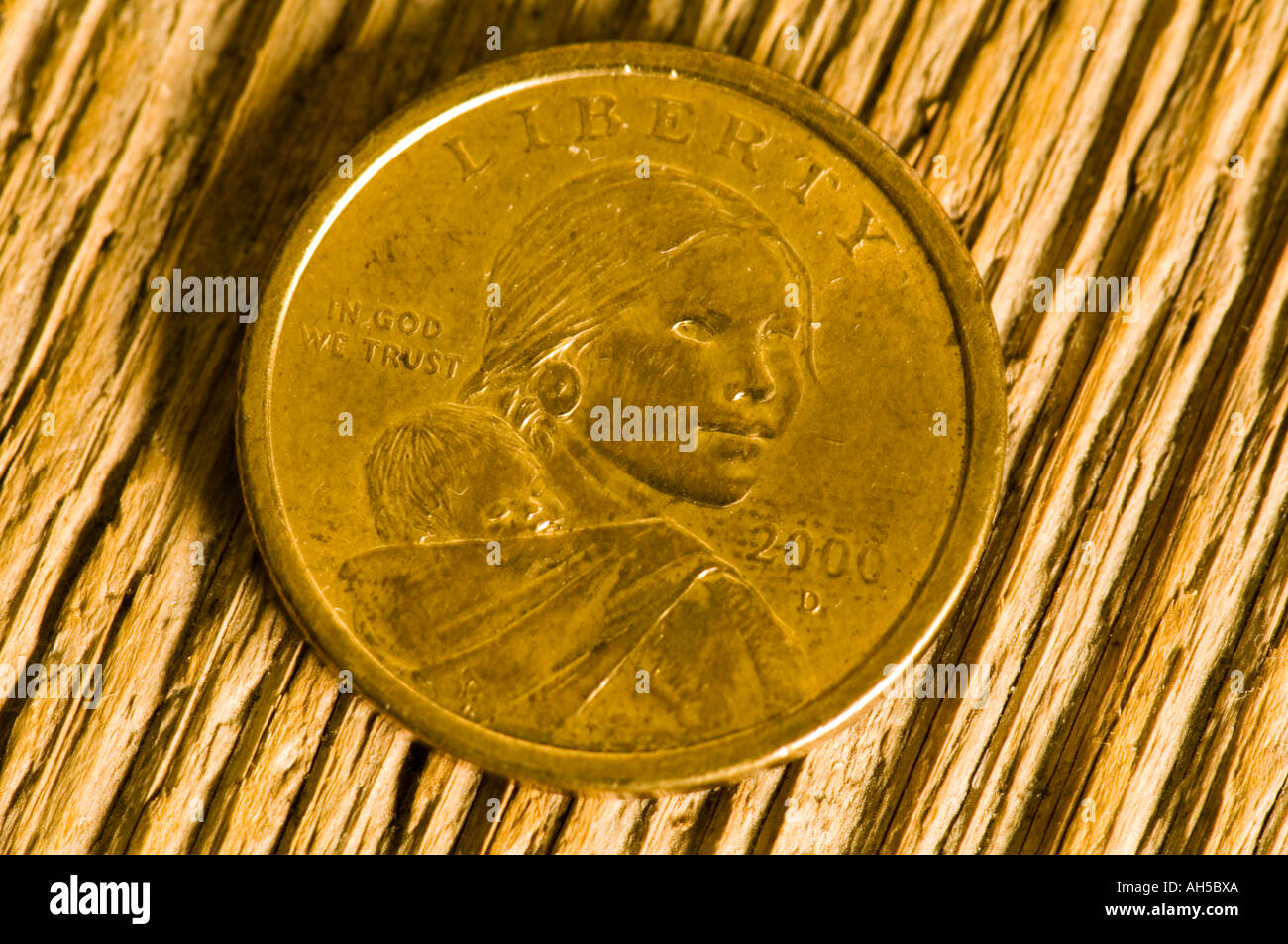 Sacajawea Gold 1 Dollar Münze Uns Stockfoto Bild 8207849 Alamy