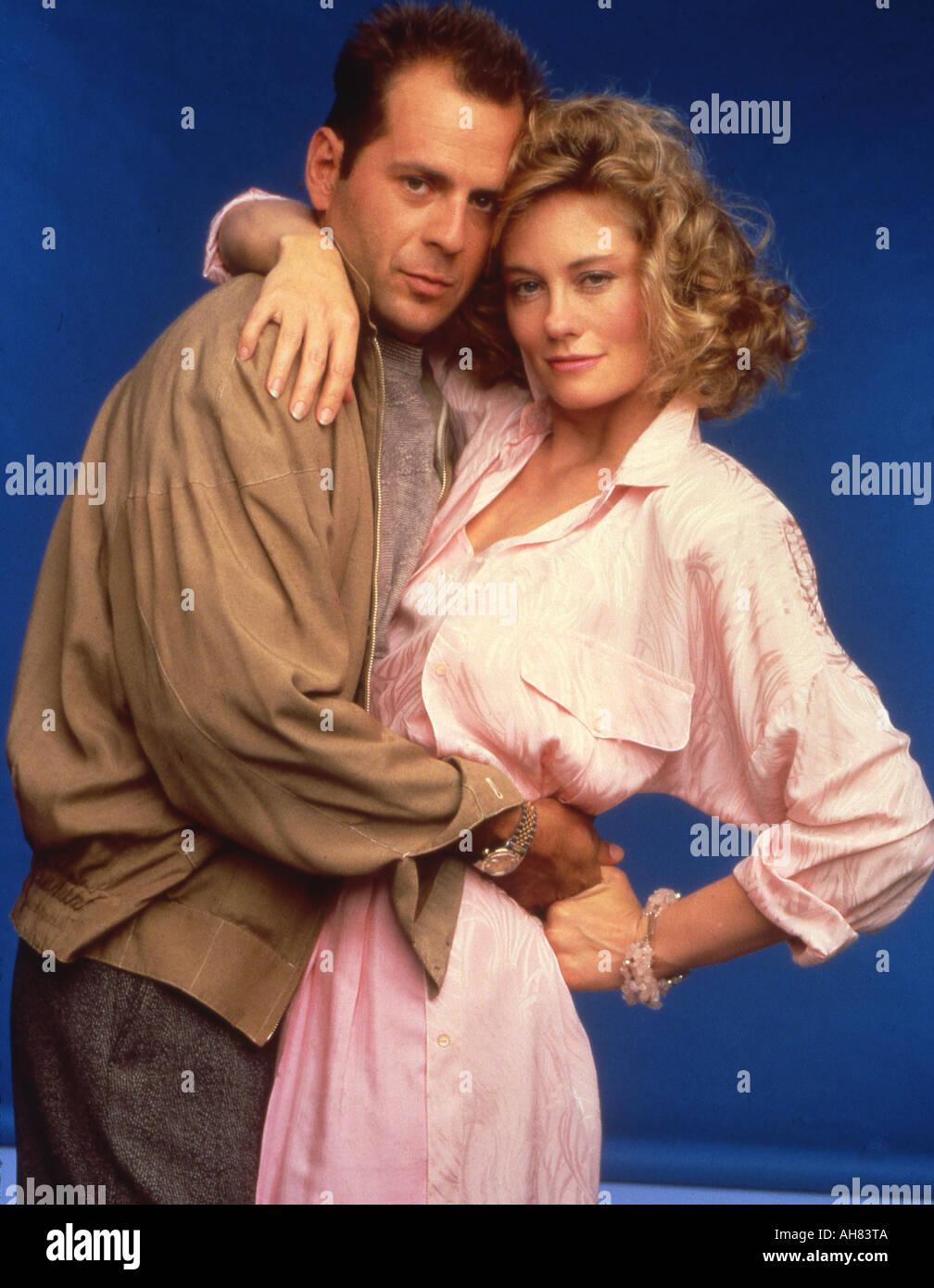 Schwarzarbeit 1980er Jahren US-Fernsehserie Bruce Willis und Cybill Shepherd Stockbild