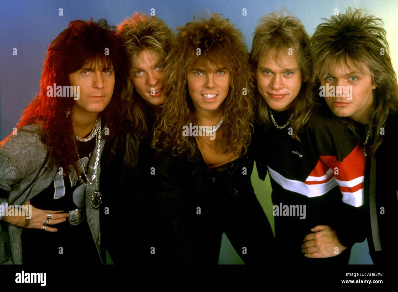 Europa-schwedischen Rockgruppe der 1980er Jahre Stockbild