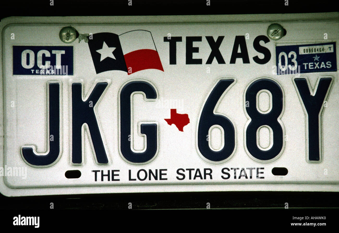 Texas license plate stockfotos texas license plate for Lone star motors fort worth tx