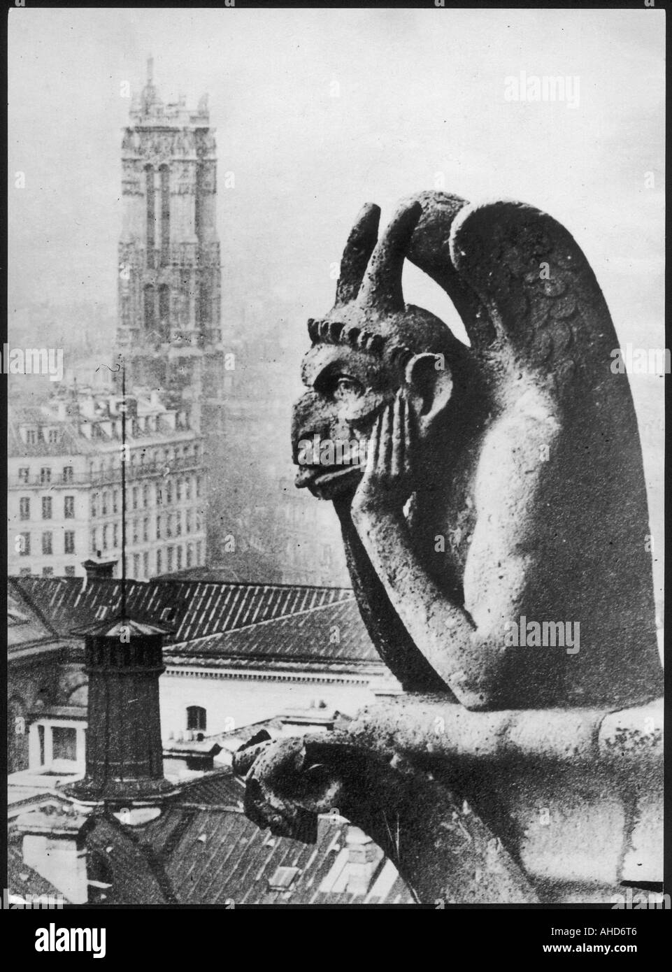 Paris-Gargoyle Stockbild