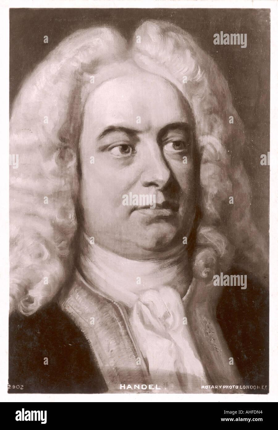 Händel-Postkarte Stockbild