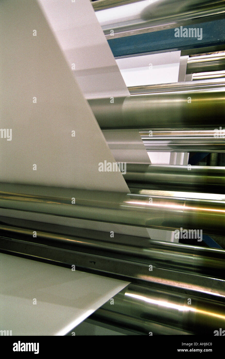 Papier, Durchreise Maschinen Papierfabrik Smurfit England Großbritannien UK Stockbild