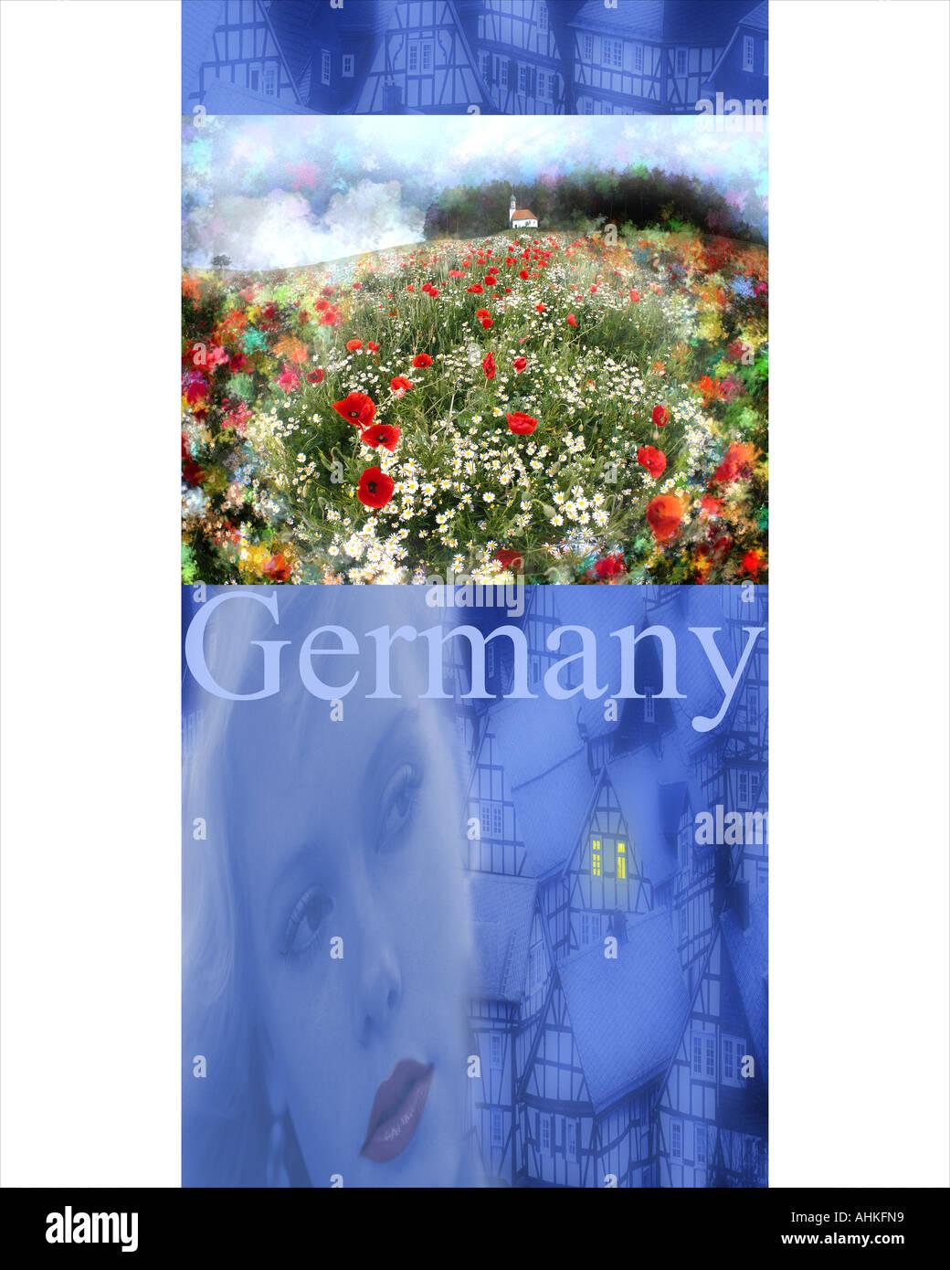 REISEKONZEPT: Deutschland Stockbild