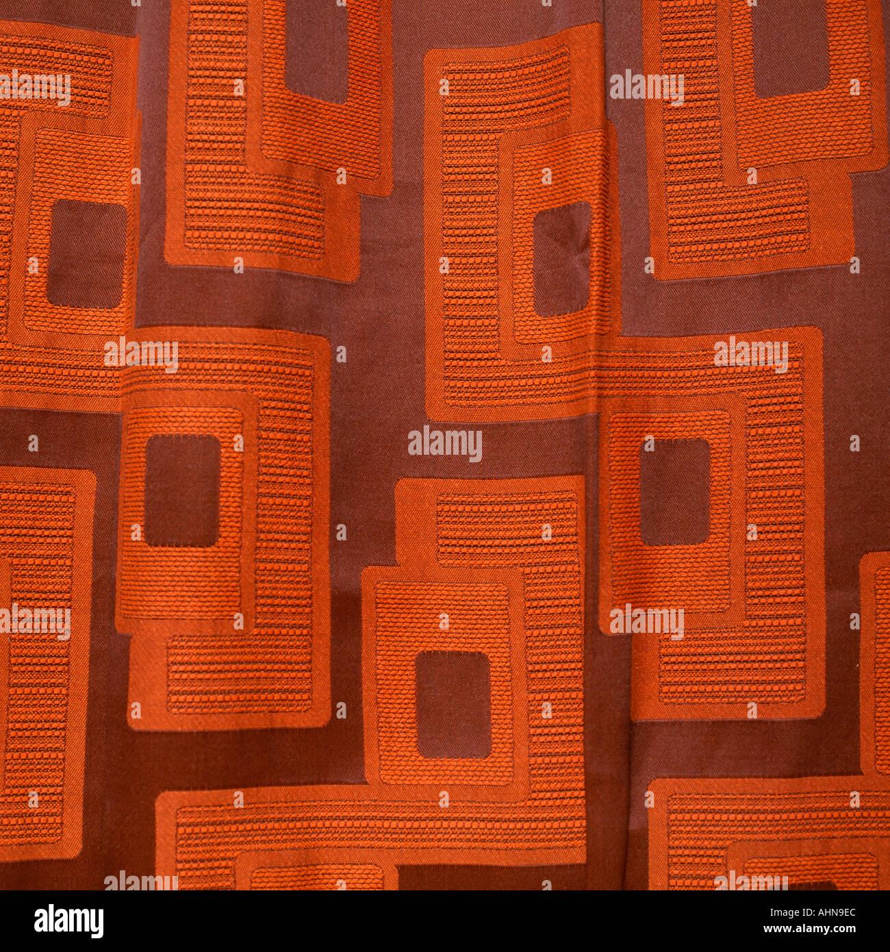 Retro-Muster Vorhänge Stockbild