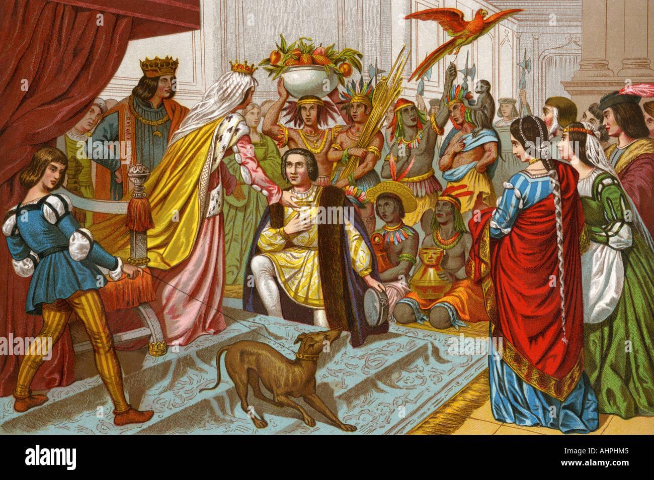 Wer Bringt Weihnachtsgeschenke In Spanien.Columbus Bringt Geschenke Aus Der Neuen Welt Der Königin Isabella I