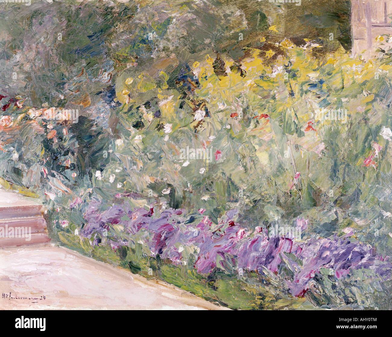 """""""Fine Arts, Liebermann, Max, (1847-1935), Malerei,""""Gartenstück"""", (""""Garten-Stück""""), Privateigentum, Augsburg, historische, Stockfoto"""