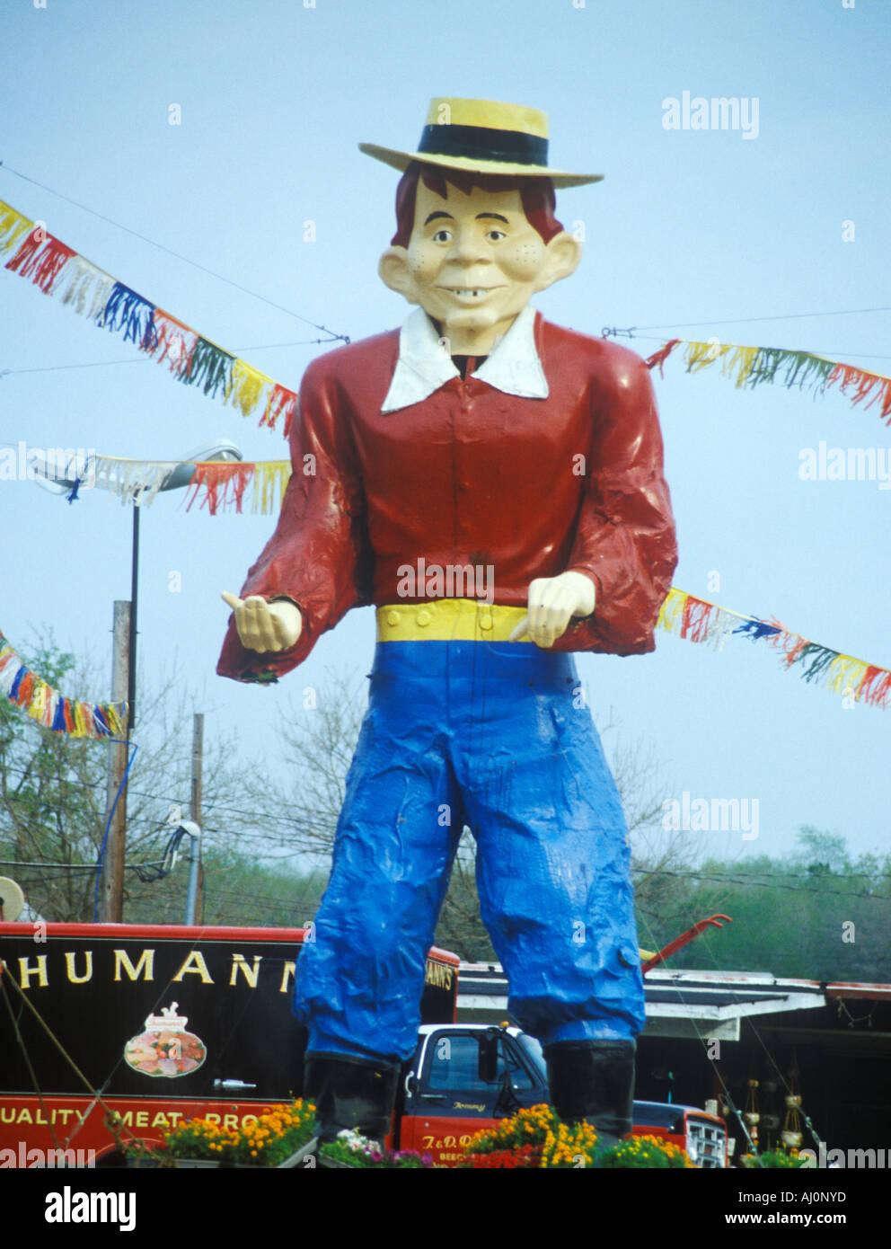 Statue von Cartoon character Alfred E Neuman MI Stockbild