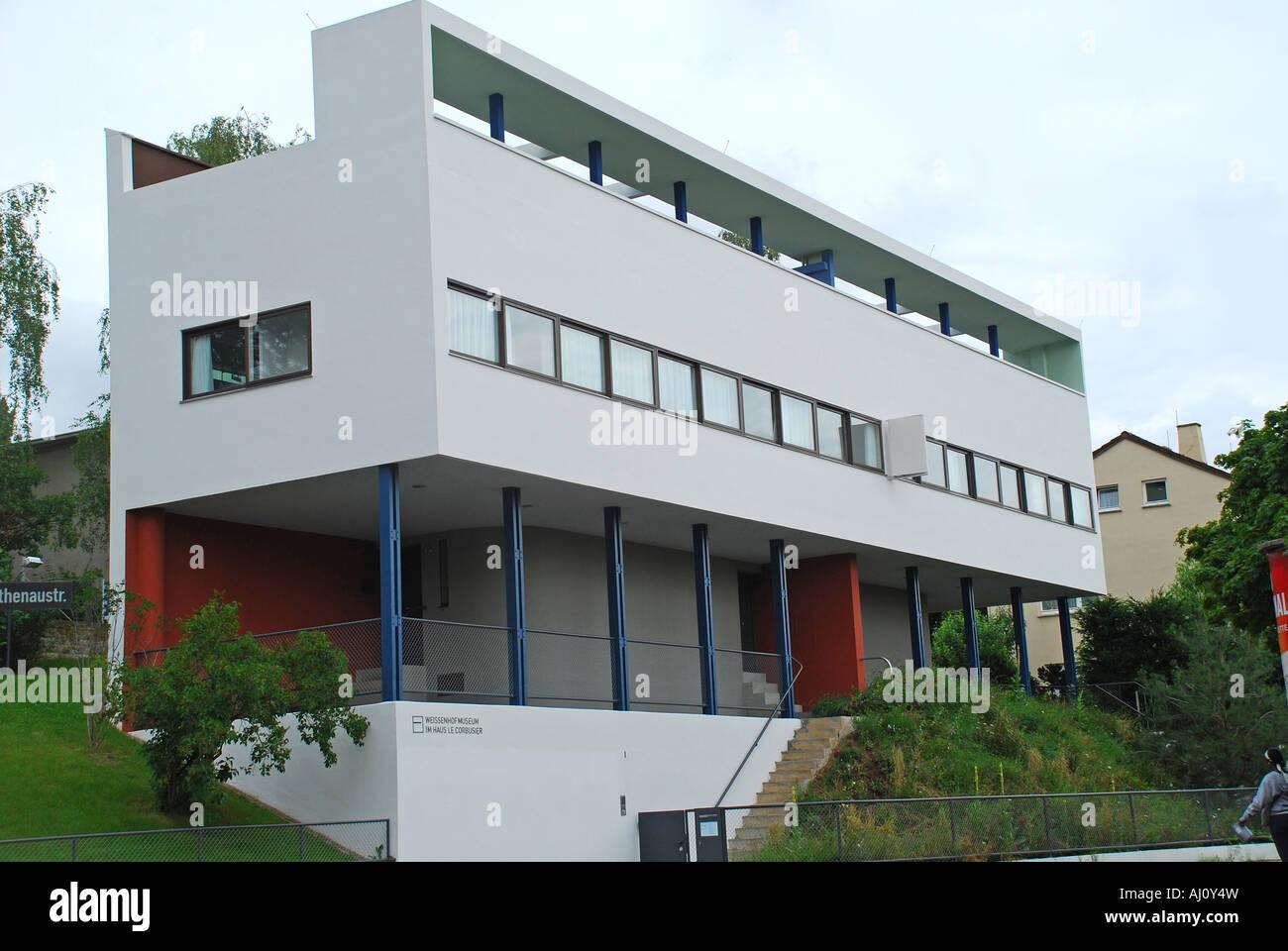 Doppelhaush lfte des architekten le corbusier rathenaustr - Gartengestaltung doppelhaushalfte bilder ...