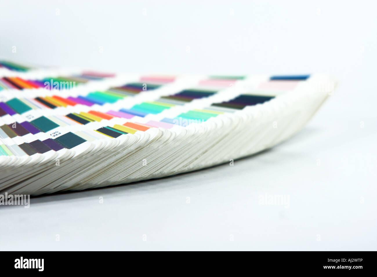grafischen Farben Skala closeup Stockbild