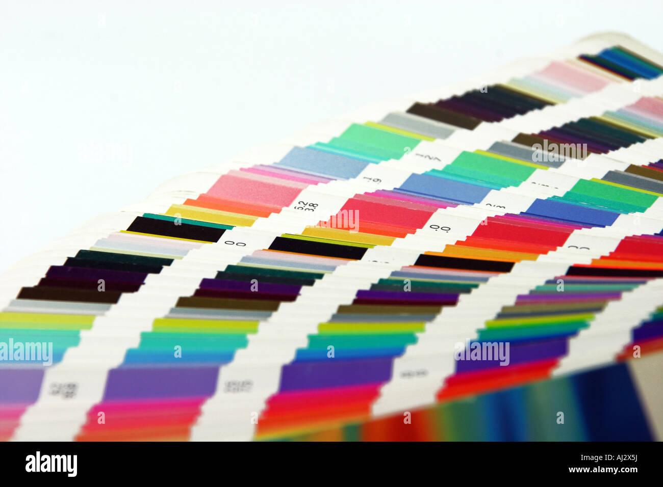 grafischen Farben Skala Closeup für Hintergrund Stockbild