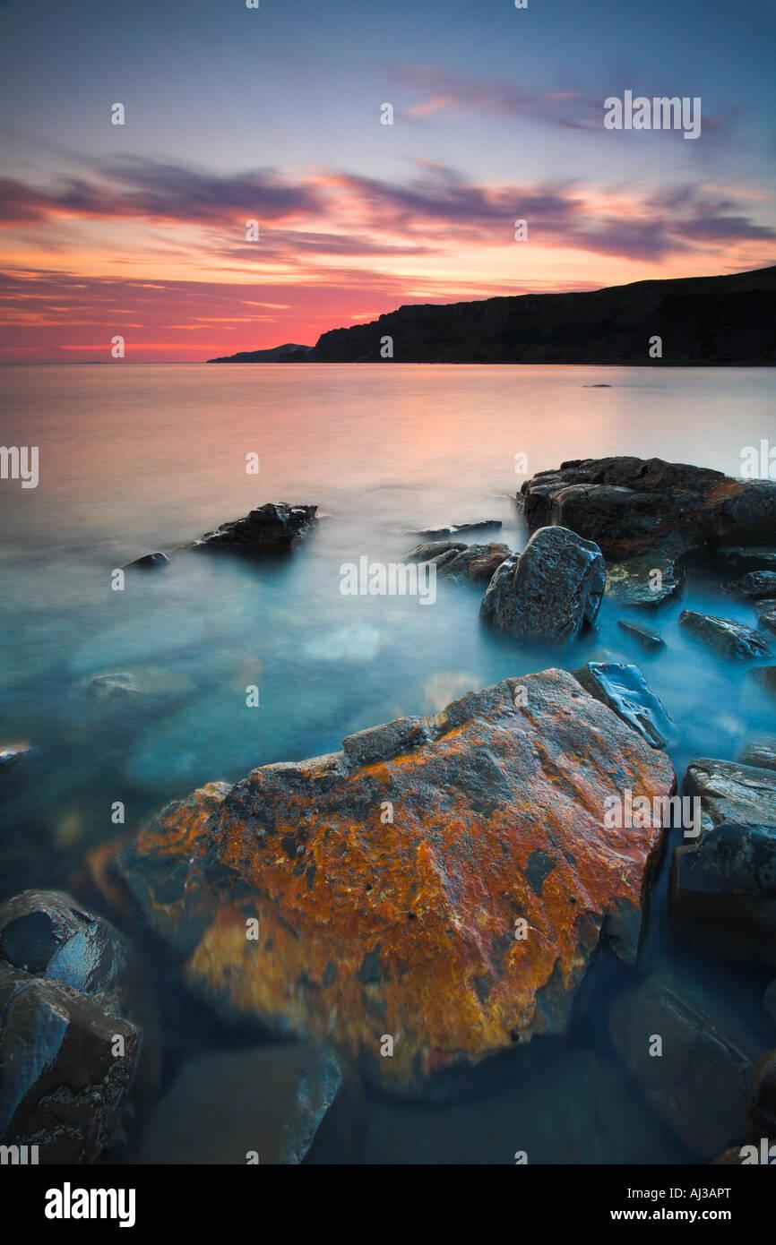 Hobarrow Bay in der Nähe von Kimmeridge Bucht an der Jurassic Coast of Dorset Stockbild