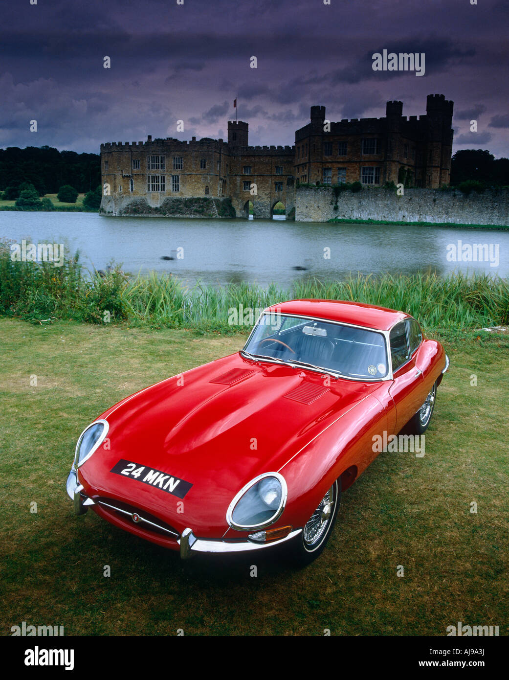 Jaguar E-Type Stockbild