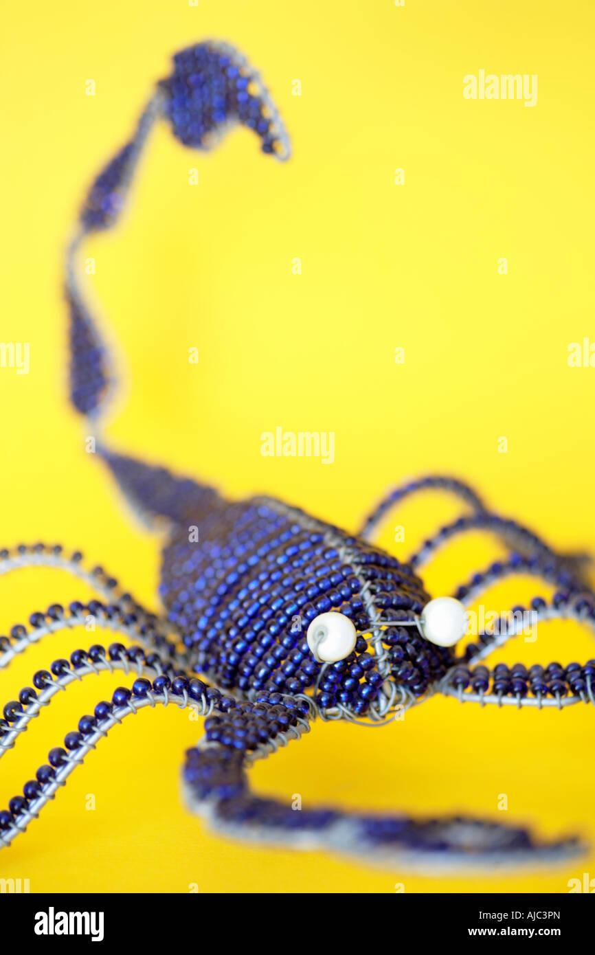 Perlen Draht Skorpion eine südafrikanische Curio Stockfoto, Bild ...
