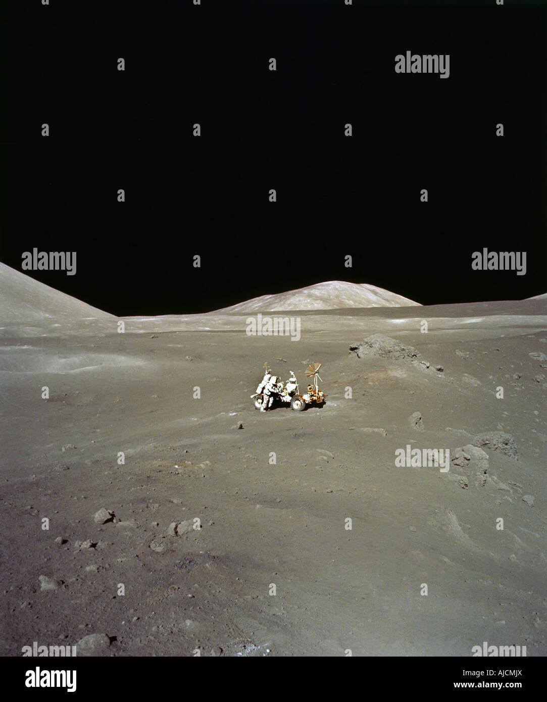 Surfaceof der Mond Apollo 17 Stockbild