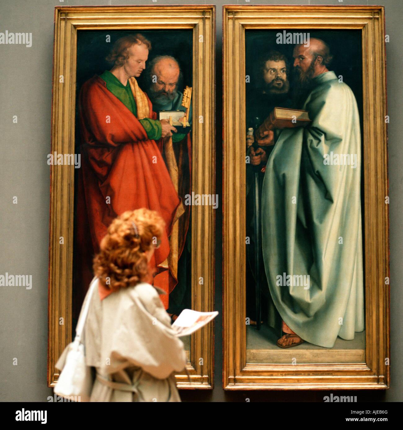 EU DE Deutschland Bayern München Alte Pinakothek vier Apostel von Albrecht Dürer keine PR-Herr ja keine Stockbild