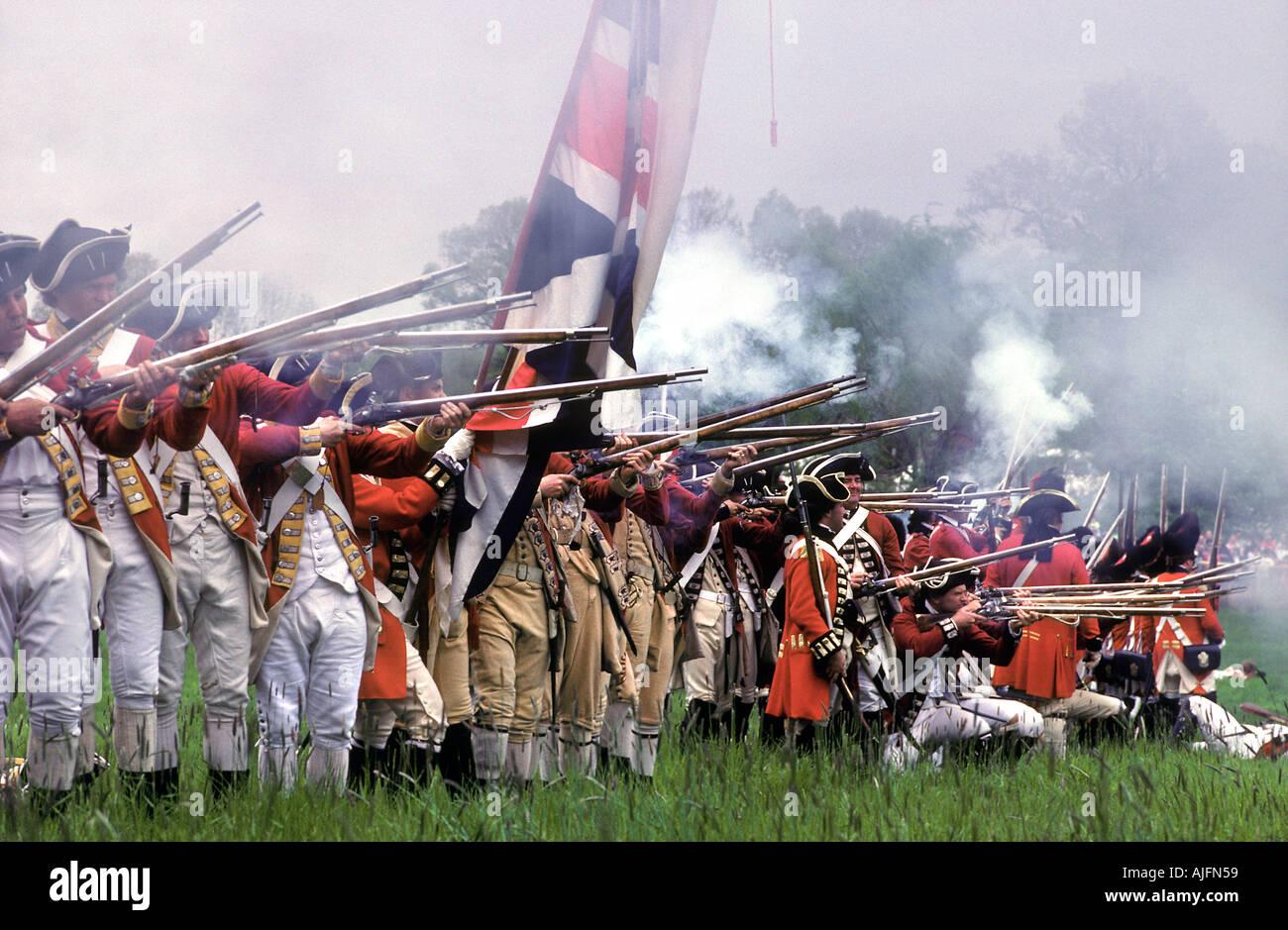 Unabhängigkeitskrieg Reenactment historische Morristown (New Jersey) Stockbild