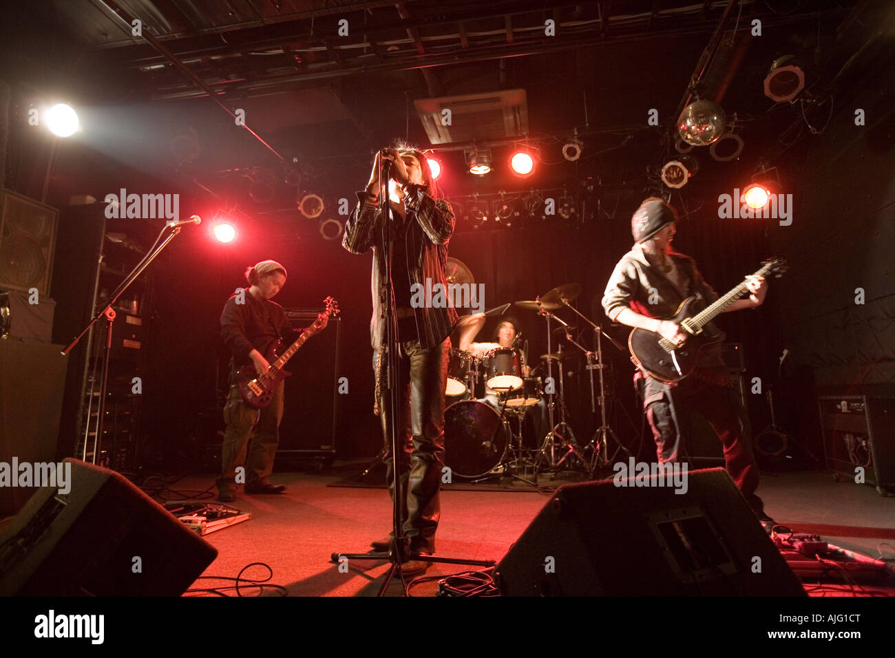 Rock-Band im Konzert Stockbild