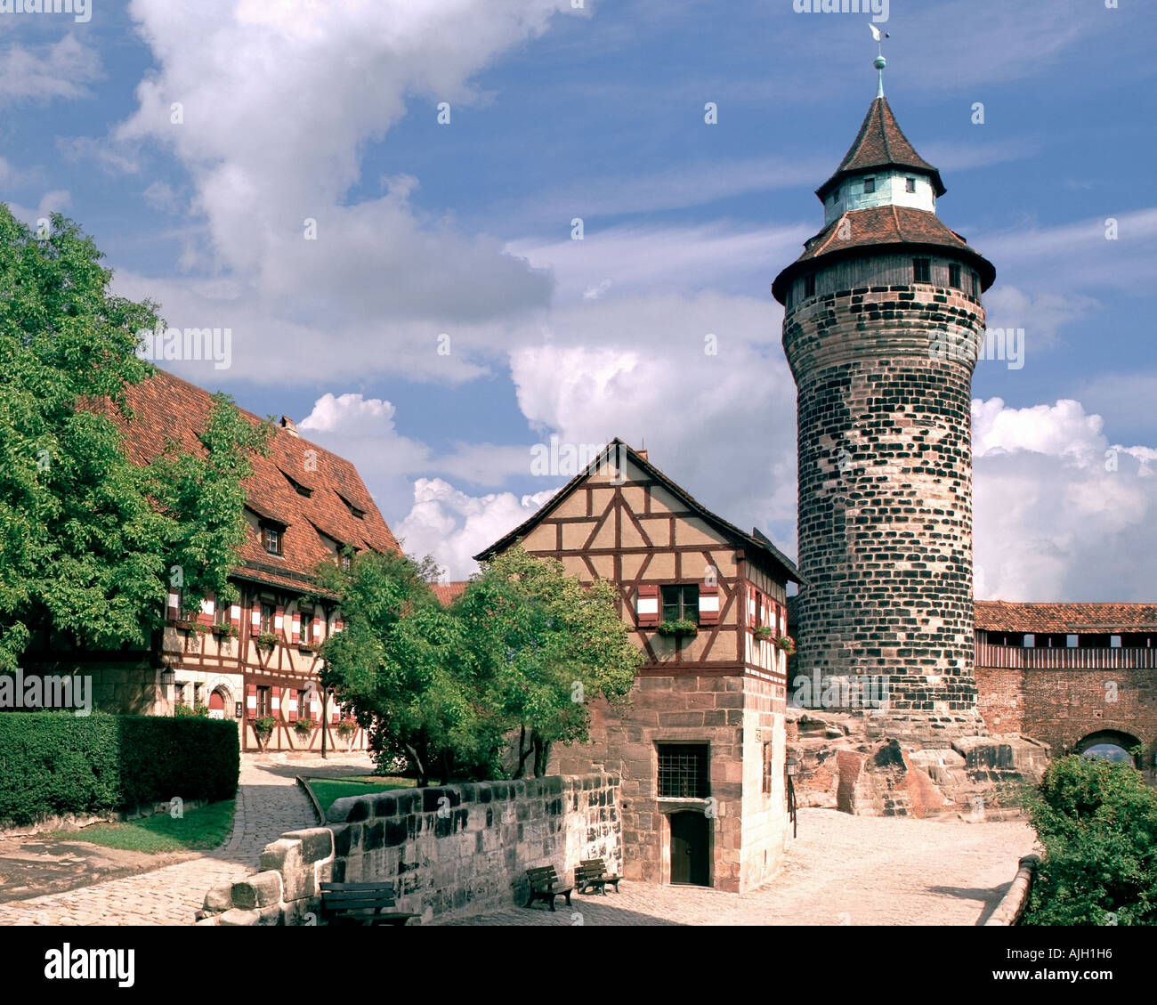 DE - Bayern: Die Burg in Nürnberg Stockbild