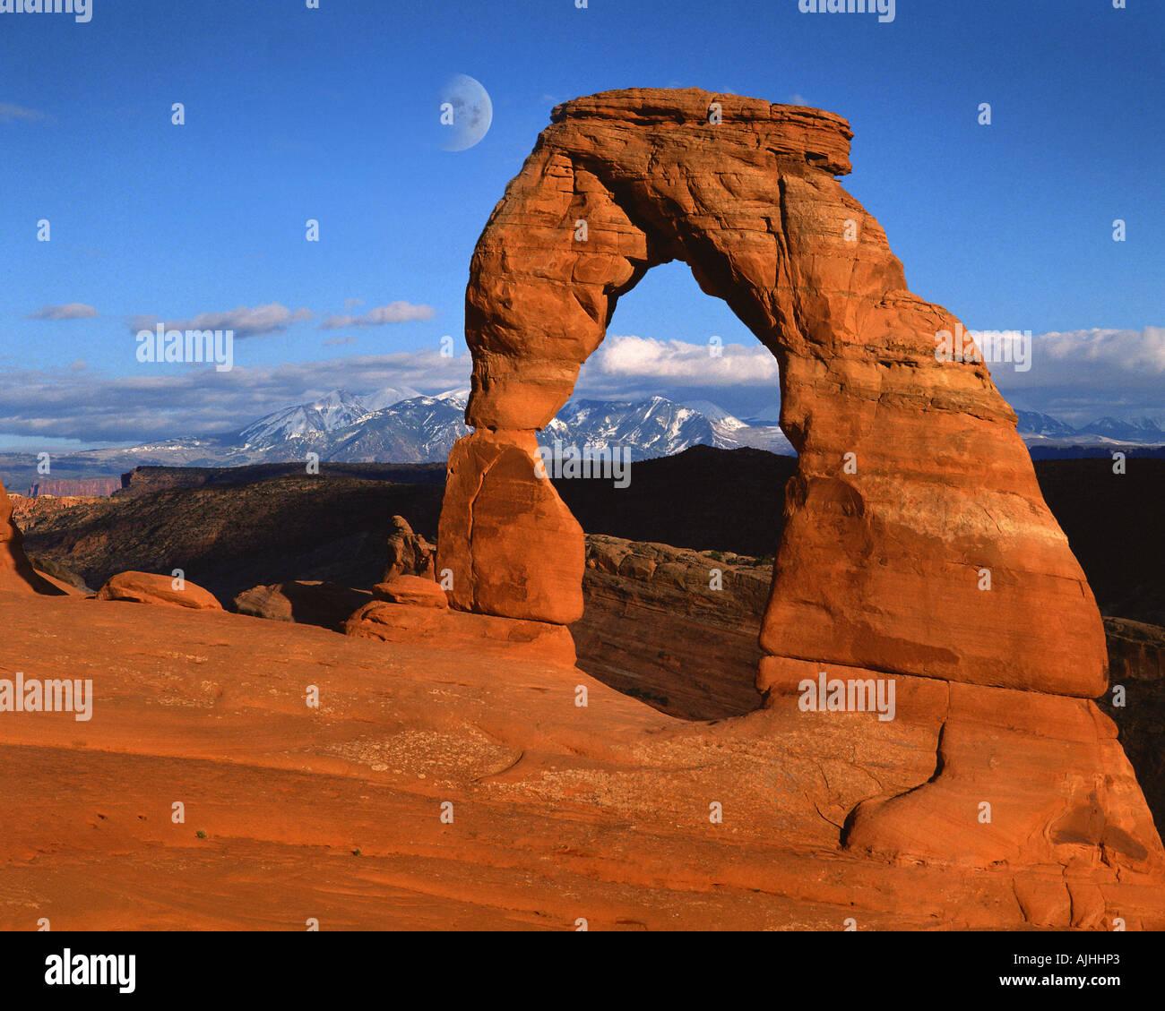 USA - UTAH: Delicate Arch im Arches National Park Stockbild