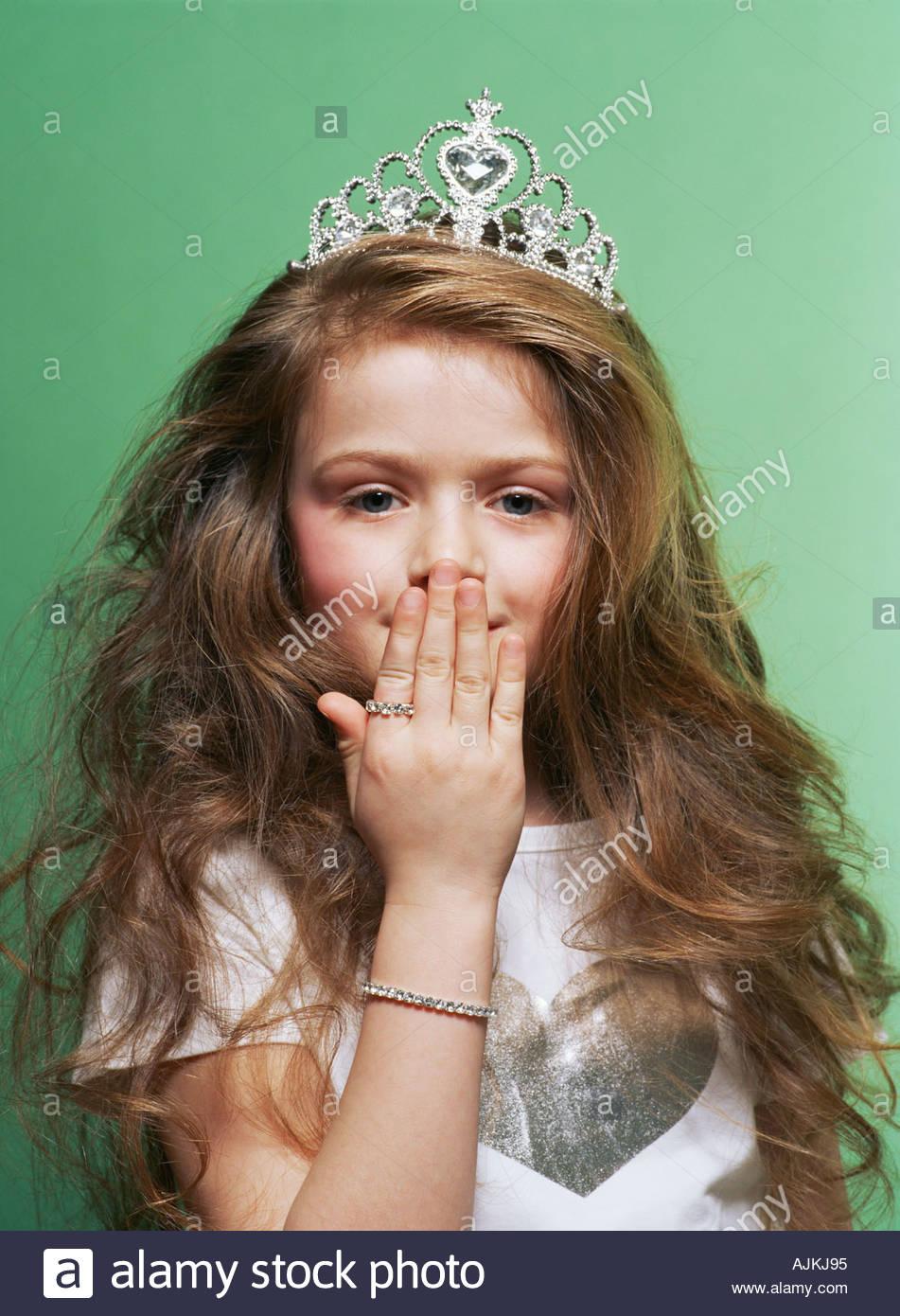 Prinzessin für ihren Mund Stockbild