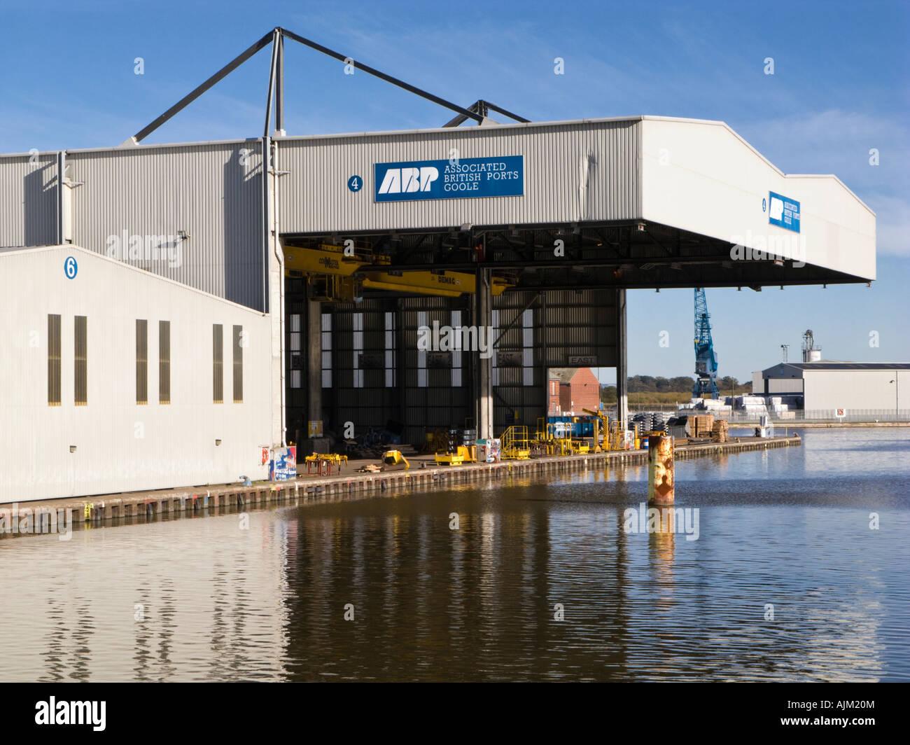 Damit verbundenen britischen Häfen Aufhänger bei Goole Docks, East Yorkshire, UK Stockbild