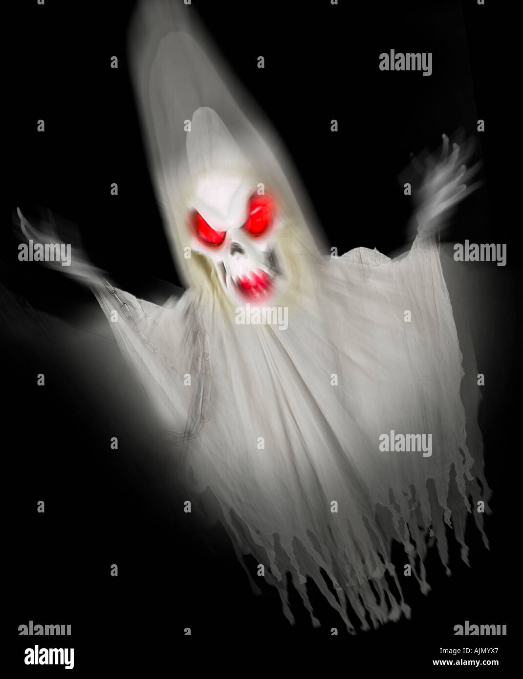 Gespenst Ghul Dämon die Nacht von Halloween spuken Stockbild