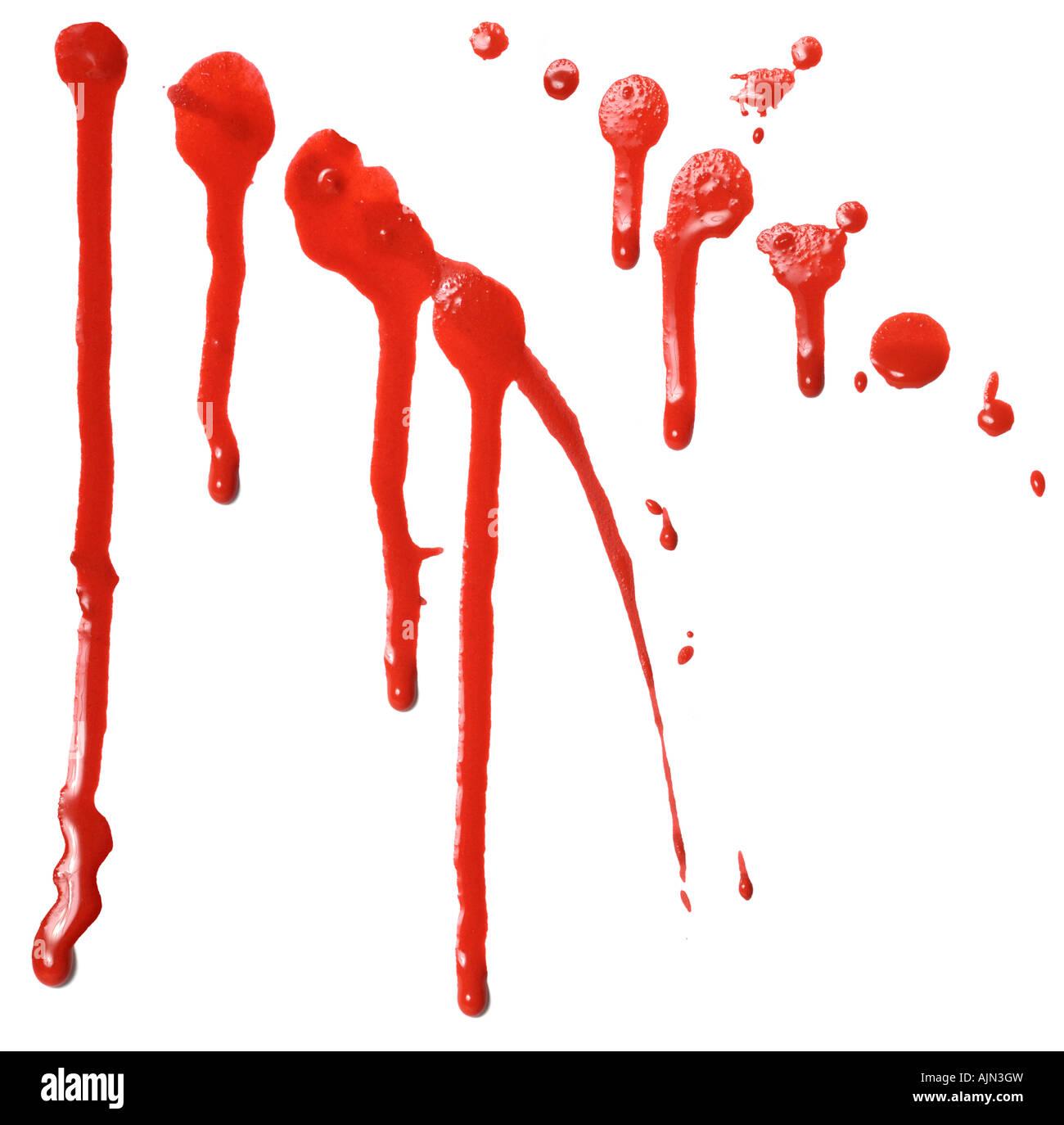 Rote Farbe Tropft Stockfoto Bild 14774904 Alamy