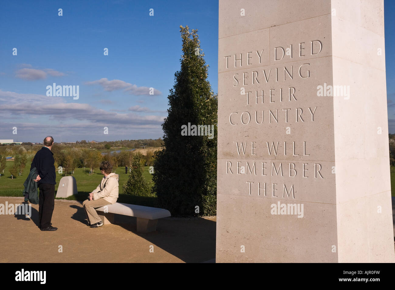 Armed Forces Memorial, National Memorial Arboretum, Alrewas, Staffordshire, England Stockbild