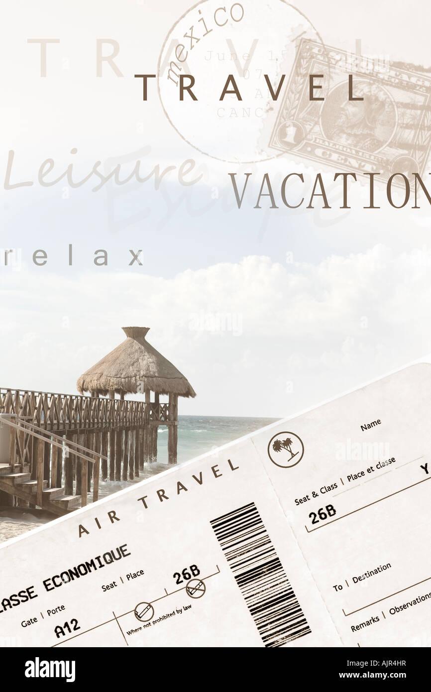Computer generierte Bild Urlaub Poster Stockbild