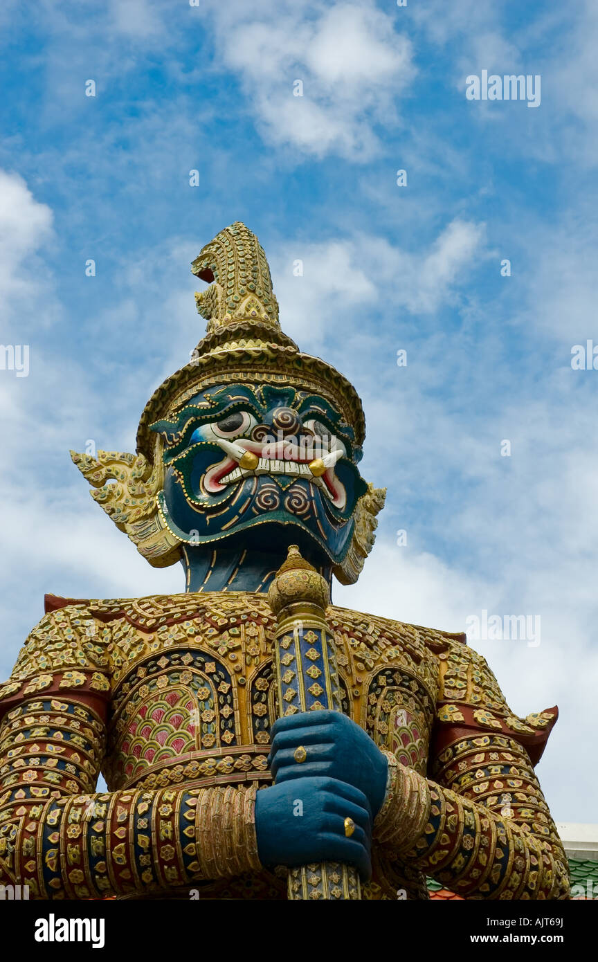 Mythische Riese Wächter Yak im Wat Phra Kaew Bangkok Stockbild