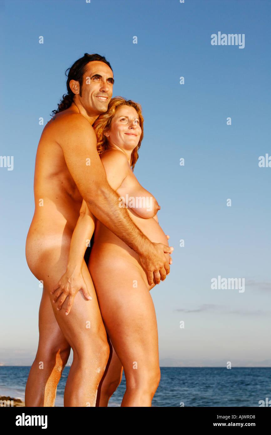 Strand paar nackt