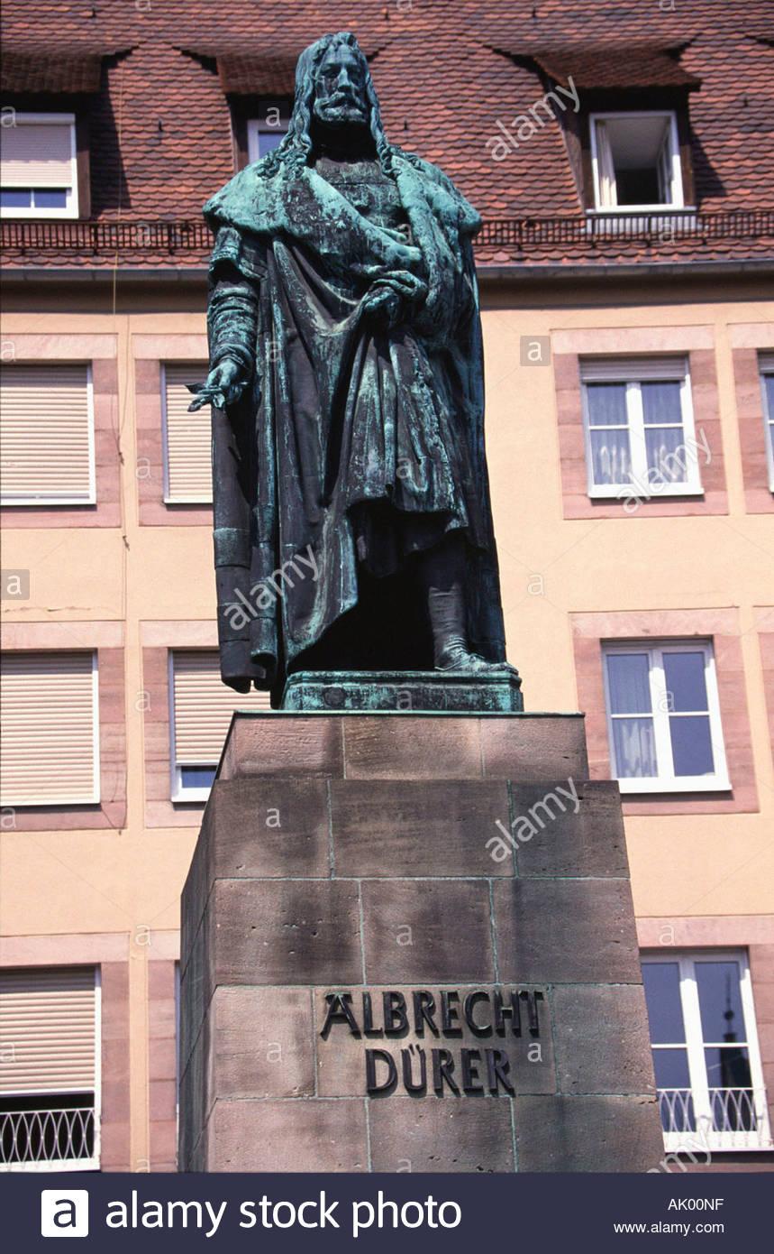 Albrecht Dürer-Denkmal / Nürnberg / Albrecht-Dürer-Denkmal Stockbild